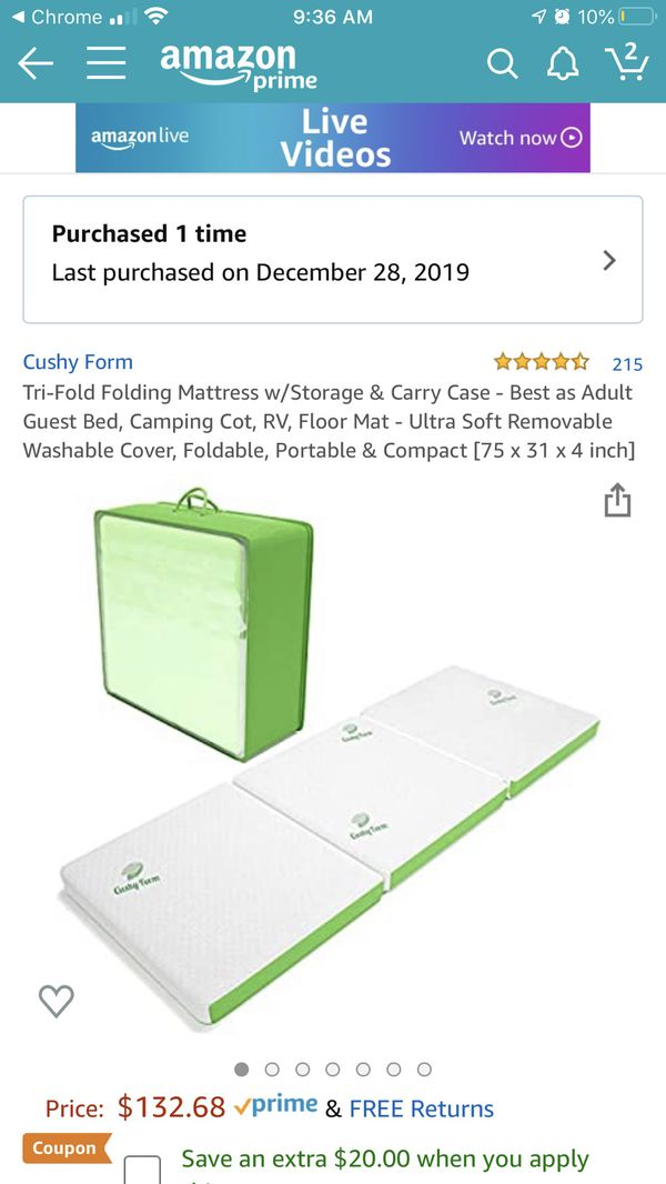 Brand new never used foam mattress