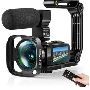 2.7K Camcorder HD 36MP Digital Vlogging Recorder with IR Night Vision and 16X Digital Zoom Equipped with Touchable Screen, External Microphone, Remote for Sale in Corona, CA