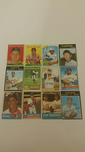 12 rare vintage old Baseball Cards from 1960's & 1970's for Sale in Anaheim, CA