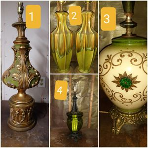 VINTAGE TABLE LAMPS for Sale in Swansea, IL