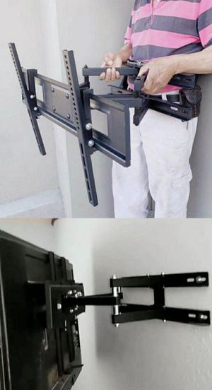 """New Universal Wall TV Mount Fits 32"""" to 65"""" TV Sizes Swivel Full Motion Tilt Heavy Duty Dual Arms include tv bracket hardware and screws for Sale in Whittier, CA"""