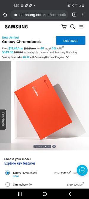 Samsung Galaxy Chromebook i5 processor for Sale in Sacramento, CA