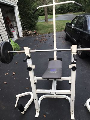 Weider home gym bench and weights for Sale in North Haven, CT