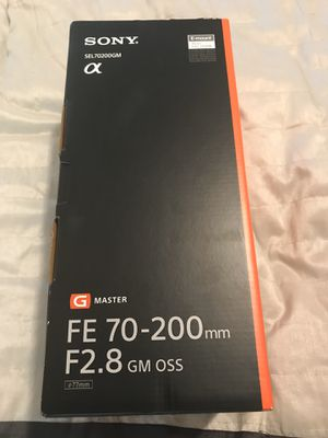 """Sony G Master FE 70-200 mm F2.8 GM """"Brand new in box"""" for Sale in Margate, FL"""