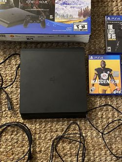 PlayStation 4 Slim 1TB Barely Used PS4 PS5 w/ 2 Controllers And Games for Sale in Union City,  CA