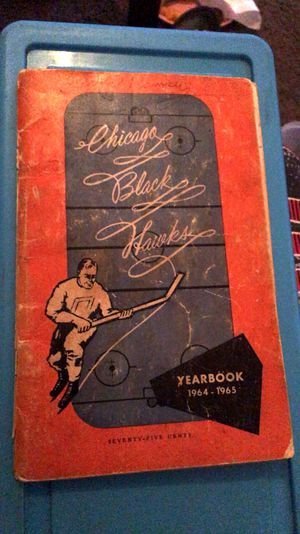 1964-1965 Chicago Blackhawks signed year book for Sale in Canton, IL