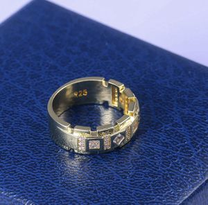 18K Yellow Gold plated over 925 Stamped Sterling Silver white Sapphire Ring Sz9 for Sale in Wood Dale, IL