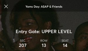 Yams day !!! Single ticket contact for purchase for Sale in Durham, NC