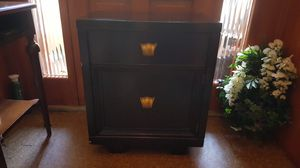 Vintage Black Wood Nightstand for Sale in Jersey City, NJ
