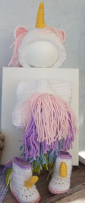 Handmade Unicorn Diaper Cover Set for Sale in Apache Junction, AZ