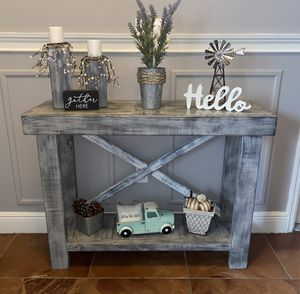 Gorgeous gray & white distressed entry table for Sale in Orlando, FL