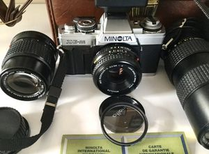 Mint Working Minolta XG-M 35 mm Film Camera With 3 Lenses for Sale in Brooklyn, NY