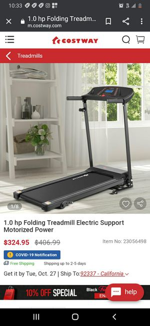 New 1hp Electric Folding Treadmill for Sale in Downey, CA
