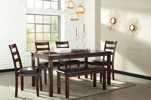 🎀[SPECIAL] Coviar Brown 6-Piece Dining Set   D385🎀🚛(SameDay Delivery) for Sale in Glen Burnie, MD