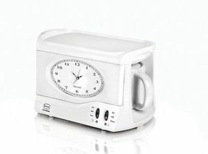 Swan alarm clock & tea + coffeemaker for Sale in West Hollywood, CA