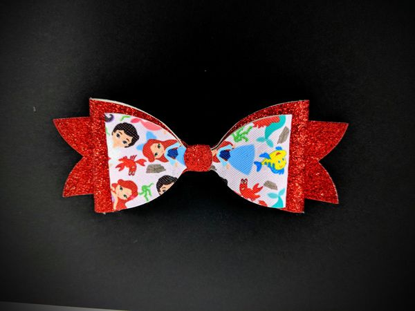 Lot of 6 New Handmade Large Girls Hair Bows