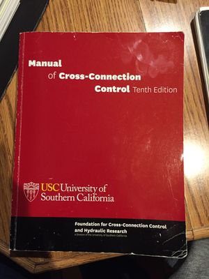 Manual of cross connection control for Sale in Orange, CA