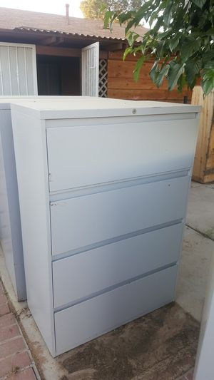 Metal filing cabinets wood desks and shelves for Sale in Hesperia, CA