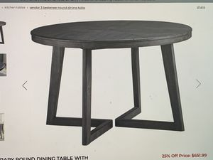 "Dining table restauration Hardware style 48"" diameter for Sale in Hallandale Beach, FL"