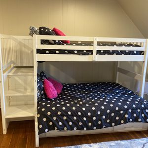Storage Bunk Bed (Full & Twin Size) for Sale in Snellville, GA