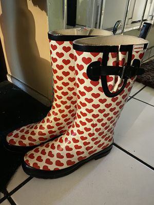 Rain boots size 8 women for Sale in Los Angeles, CA
