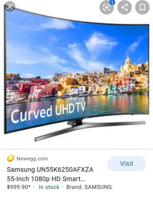 """Samsun """"Curve """"Smar t TV. 55"""" for Sale in Santa Ana, CA"""