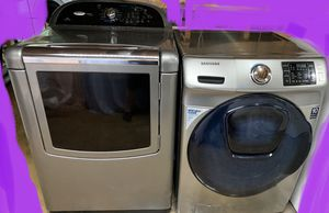 Stainless HE washer & dryer set for Sale in Woodstock, GA