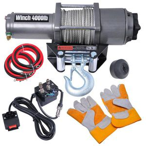 12 volt 400 lbs car truck corded remote electric winch for Sale in City of Industry, CA