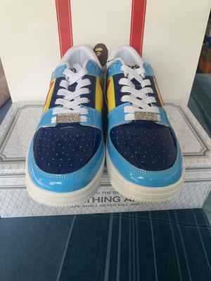 Bape Bapesta Color Block Low Yellow Navy Blue Baby Blue Red for Sale in Hamilton Township, NJ