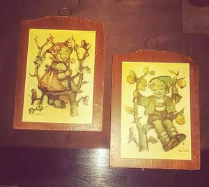 """Two Vintage Wooden Wall plaques """"Manchester Wood Co."""" Handcrafted in Vermont for Sale in Jetersville, VA"""