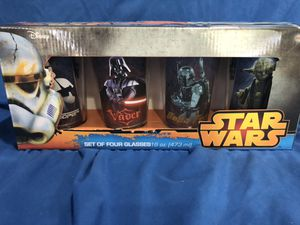 Star wars collectible glasses for Sale in Cape Coral, FL