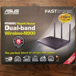 ASUS RT-N66U Dual-Band Wireless-N900 Gigabit Router for Sale in Rancho Santa Margarita, CA