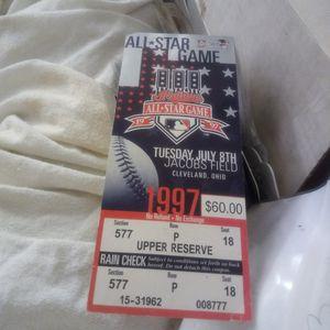 1997 All Star Game Unused Full Ticket for Sale in Santa Clara, CA