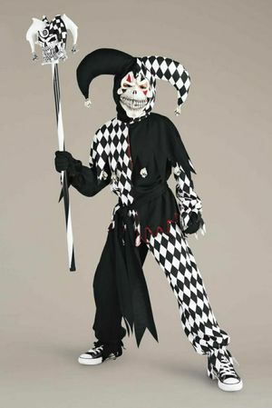 Brand new boys evil jester halloween costume complete costume size small for Sale in Alexandria, VA