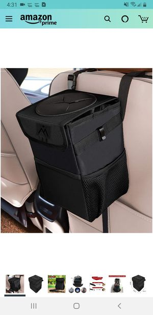 Car Trash Can with Lid, Car Trash Bag Automotive Garbage Can, Vehicle Trash Bin Container for Car with Storage Pockets for Sale in Tustin, CA