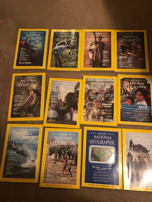1984 National Geographic Magazines (all 12) for Sale in Winston-Salem, NC