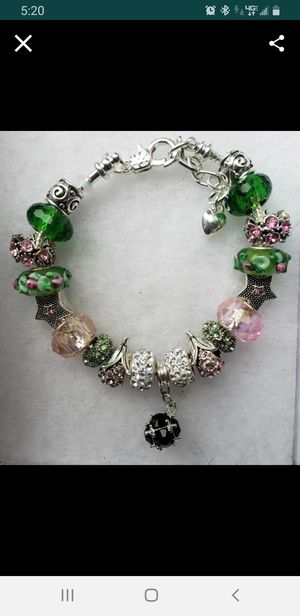 Green and pink charm bracelet 1for $15 or 2 for $25 for Sale in Baltimore, MD