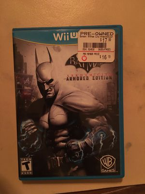 Nintendo Wii U Batman Arkham city for Sale in Visalia, CA
