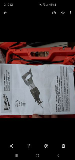 Milwaukee Heavy Duty Orbital Sawzall Brand new with hard case for Sale in Ontario, CA