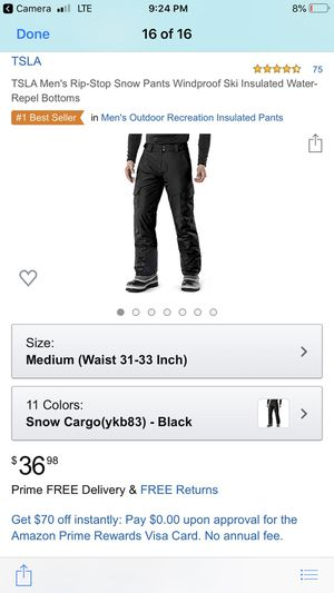 Tesla snowboard or ski pants size M for Sale in Henderson, KY