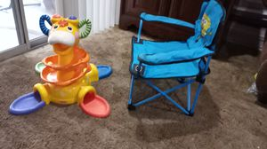 Portable kid chair and toy for Sale in Anaheim, CA