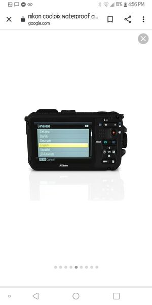 Nikon camera coolpix HD water proof to 33ft with GPS for Sale in Citrus Heights, CA