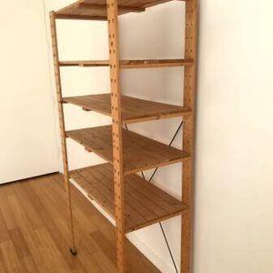 "H68.5"" wood shelving unit/6 adjustable shelves/strage/shelf/open rack for Sale in Brooklyn, NY"
