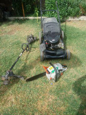 Lawn mower echo chainsaw weed wacker for Sale in Corona, CA