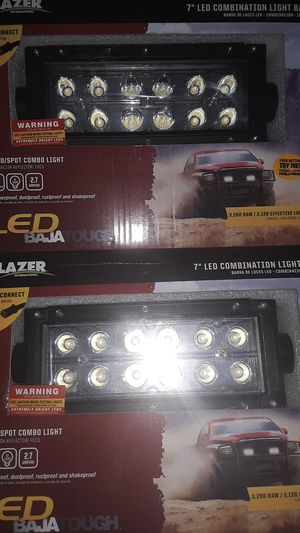 "7"" Lightbar pair spot/flood combo for Sale in San Angelo, TX"