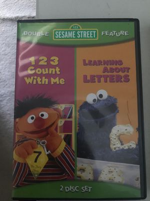 Sesame Street Educational DVD 123 Count With Me, Learning About Letters for Sale in Stockton, CA
