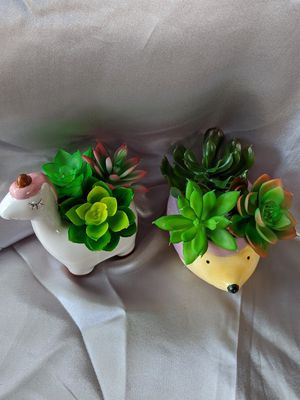 Set of cute little animals succulents pot for Sale in Cleveland, OH