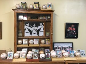 Autographed Baseball Collection (w/ cases, cards, and large glass display case pictured) Mantle Dimaggio Ted Williams Willie Mays for Sale in Charlotte, NC