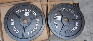 OLYMPIC WEIGHT PLATES. 2X45.LBS.BRAND NEW IN BOX for Sale in Long Beach, CA