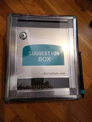 Suggestion Box with lock/key for Sale in Los Angeles, CA